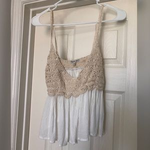 White, Flowing crop top from Charlotte Russe